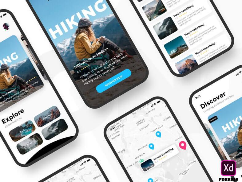 Activity App Design- uifreebies.net