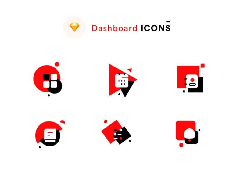 Dashboard Icons Light- uifreebies.net