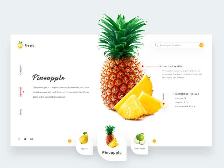 Pine Fruity Web Design- uifreebies.net