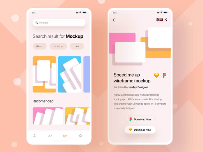 UI Kit Mock Up Platform iOS- uifreebies.net
