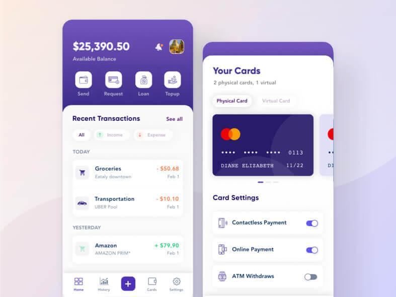 Money Management App Design- uifreebies.net