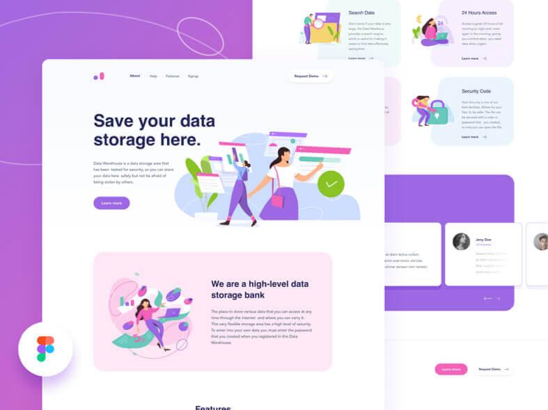 Data Warehouse Web Design- uifreebies.net