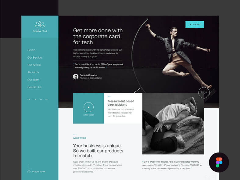 Creative Mind Website Free for Figma