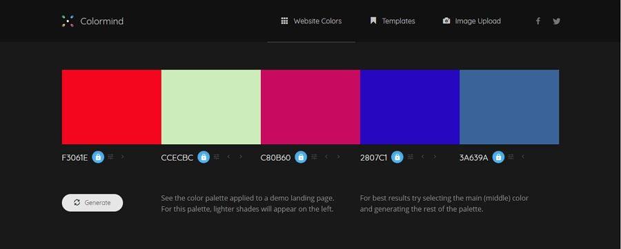 6. Colormind - UI Freebies